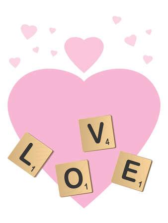 noun: Love Letters Illustration