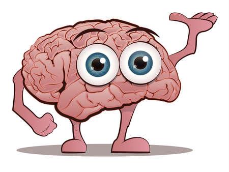 의식: 손과 발과 뇌 문자 일러스트