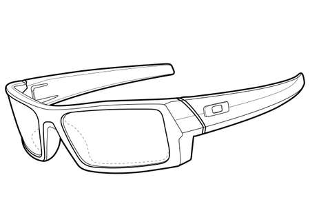 Sun Glasses Outline