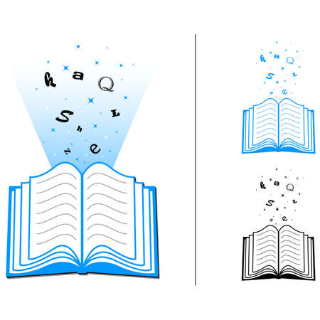 Open Book Learning Stock Vector - 14769141