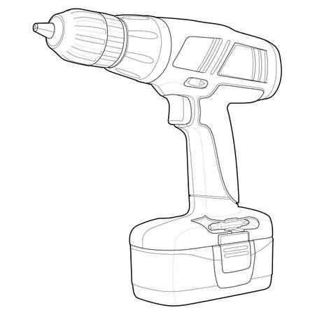 chuck: Detailed Drill Illustration Illustration