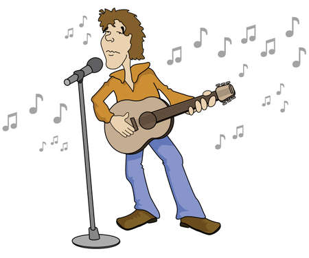 Singer Cartoon Vector