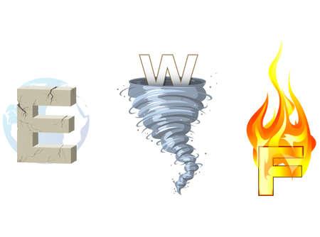 Earth, Wind, Fire Stok Fotoğraf - 14840571