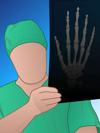 Doctor looking at xray