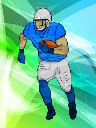 FootballAbstract SportsRunningback in action Vector