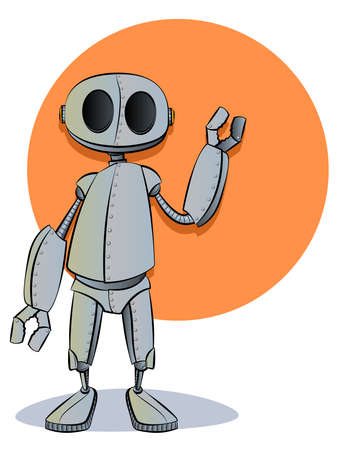 Robotics Robot Cartoon Character Mascot Vector