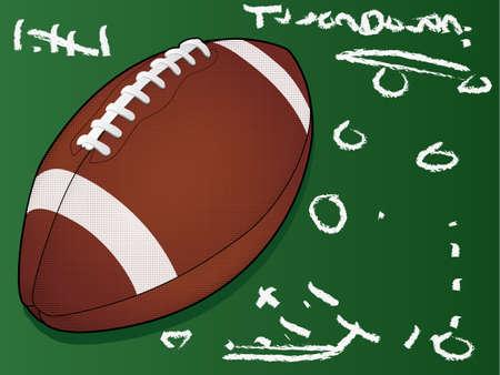 Highly detailed  football/Football Touchdown/American Football 일러스트