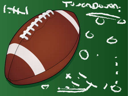 Highly detailed  football/Football Touchdown/American Football Illustration