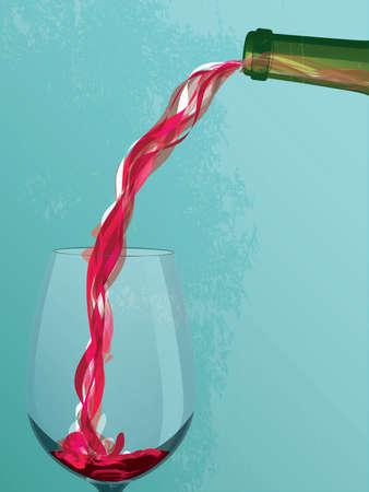 붓는 것: 와인 쏟아져 일러스트