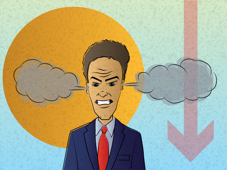 Overwhelmed Businessman Stock Vector - 15136989