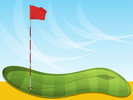 Golf Flag Background Stock Vector - 15136988