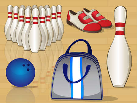 bowling alley: Bowling Equipment Icons
