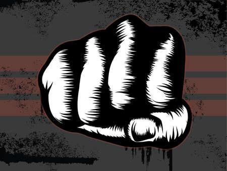Grunge Fist Punch Illustration