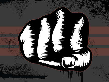 Grunge Fist Punch Vector