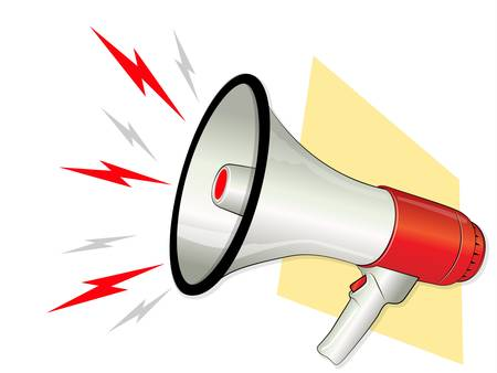 Megaphone with Loud Symbols Stock Vector - 15504820