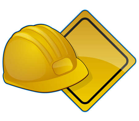 construction crew: Road Construction Icon Illustration