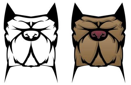 Pit Bull Dog Ilustrace