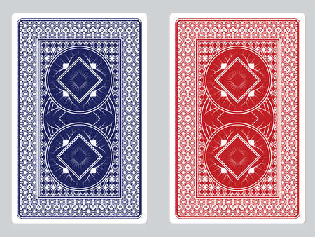 playing games: Playing Card Back Designs Illustration