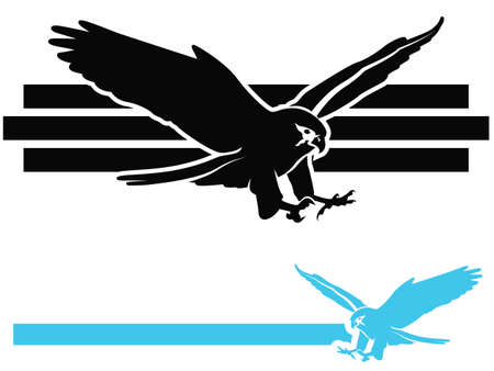 Bird of PreyFalcon Swooping Vector