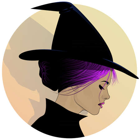 witch face: Beautiful Witch