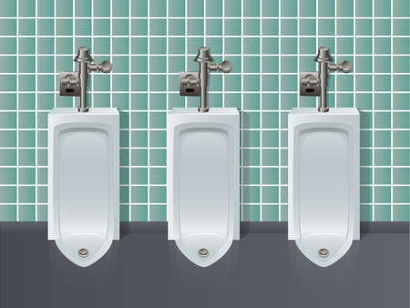 Urinals in a Row Stock Vector - 15463178