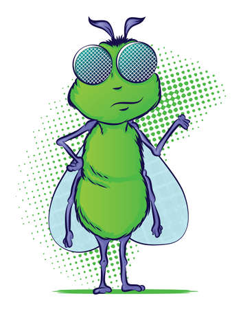 Insect Cartoon Character Vector