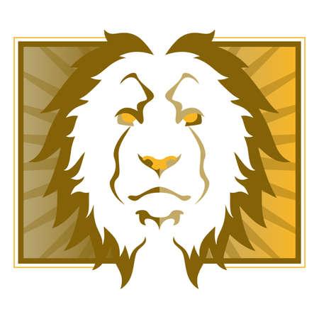 사자 머리의 그림