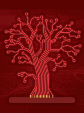 デジタル回路の赤い木