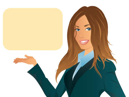 smart woman: Business Woman Illustration