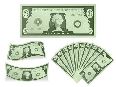 greenbacks: Dollars Illustration