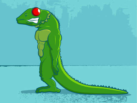 primal: Iguana Lizard Comic Illustration