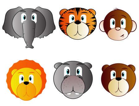 Safari Animal Babies Stock Vector - 15932689