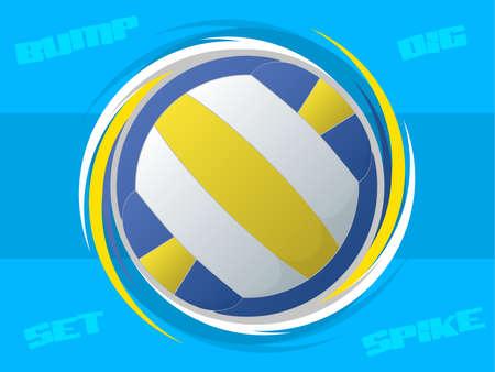 volleyball serve: Voleibol Icono
