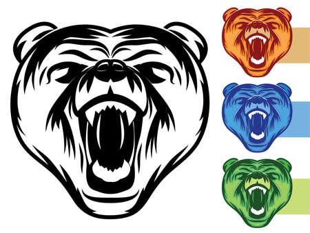Bear Mascot Icon Illustration