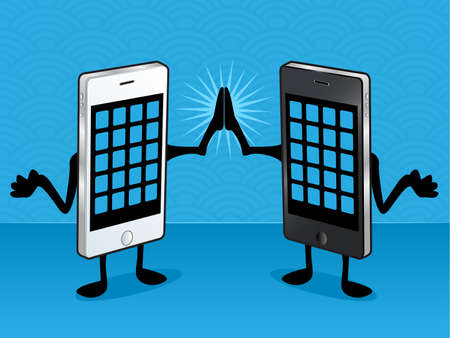 Smart Phone Friends Vector