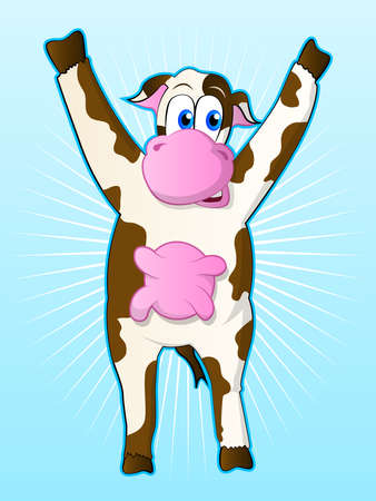 Cow Cartoon Character Illustration