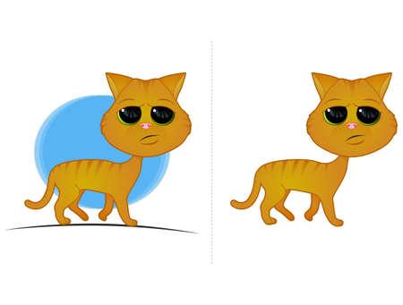 Orange Cat Cartoon Stock Vector - 16019148
