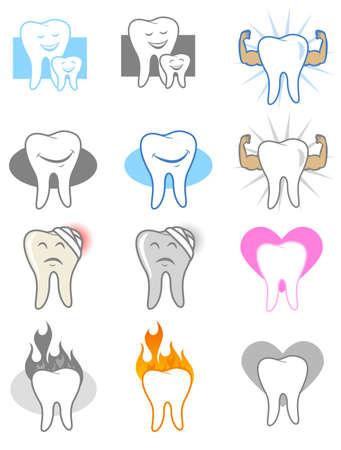 dentadura postiza: Iconos y s�mbolos dentales