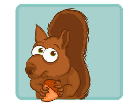Squirrel Cartoon Character Vector