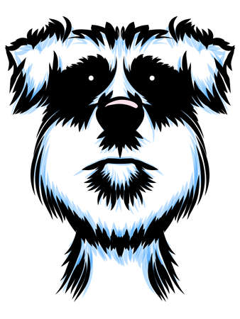 grooming: Terrier Dog Portrait Illustration
