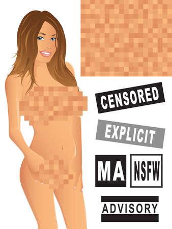 sexy nude women: Censored Pixels