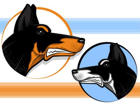 Doberman Guard Dog Stock Vector - 16400976