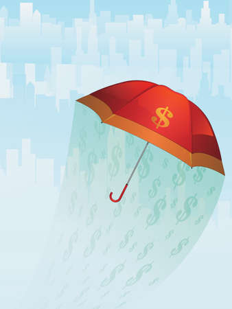 Financial Umbrella Stock Vector - 16400978