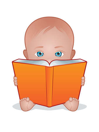 cute baby girls: Child Reading