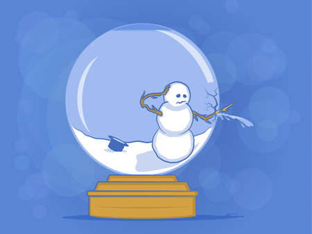 Broken Snow Globe Illustration Vector