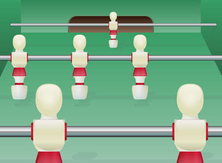 Foosball Table Soccer Vector