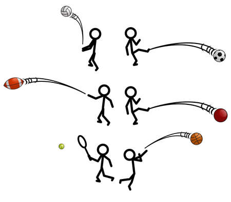Stick Figure Sports Vector