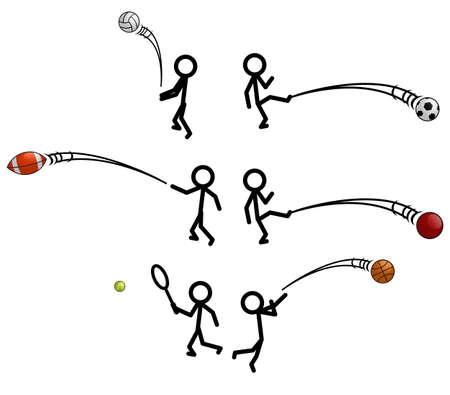 futbol: Stick Sport Figura Vettoriali