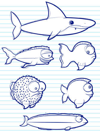 Fish Drawings Vector