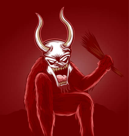 Krampus Devil Vector